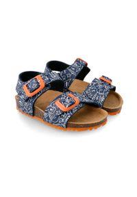 Niebieskie sandały Garvalin na klamry