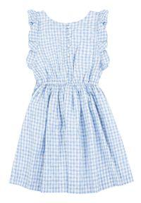 Niebieska sukienka Polo Ralph Lauren z nadrukiem, na co dzień, polo, casualowa