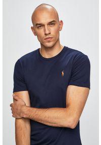 Polo Ralph Lauren - T-shirt. Typ kołnierza: polo. Kolor: niebieski. Materiał: dzianina. Wzór: gładki