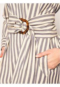 Beżowa sukienka koszulowa Marella