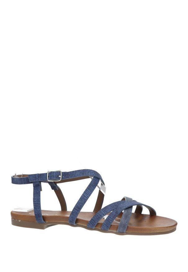 Niebieskie sandały Casu na lato, na co dzień