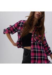 Reserved - Koszula w kratę - Różowy. Kolor: różowy