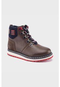 Brązowe buty zimowe Mayoral na sznurówki, na zimę
