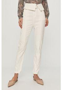 Białe jeansy Morgan z podwyższonym stanem