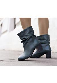 Zielone botki Zapato biznesowe, wąskie, bez zapięcia