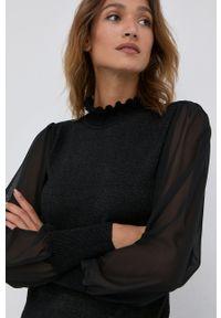 Silvian Heach - Sweter. Okazja: na co dzień. Kolor: czarny. Materiał: dzianina, materiał. Długość rękawa: długi rękaw. Długość: długie. Styl: casual
