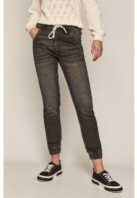 Czarne jeansy loose fit medicine gładkie
