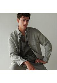Reserved - Kurtka koszulowa oversize - Jasny szary. Kolor: szary