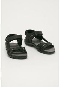 Czarne sandały Wojas na rzepy, gładkie