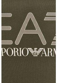 EA7 Emporio Armani - Bluza. Okazja: na co dzień. Kolor: zielony. Wzór: nadruk. Styl: casual