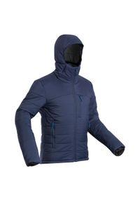 FORCLAZ - Kurtka trekkingowa męska Forclaz Trek 500 z kapturem -10°C. Typ kołnierza: kaptur. Kolor: niebieski. Materiał: materiał, tkanina, syntetyk, puch, poliamid, poliester