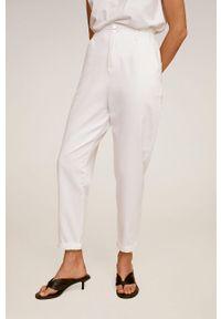 Białe proste jeansy mango casualowe, na co dzień