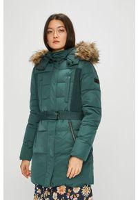 Zielona kurtka Pepe Jeans z kapturem