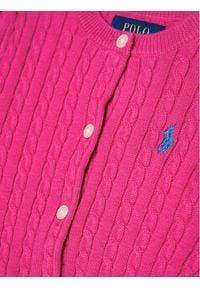 Polo Ralph Lauren Sweter Mini Cable 312543047013 Różowy Regular Fit. Typ kołnierza: polo. Kolor: różowy