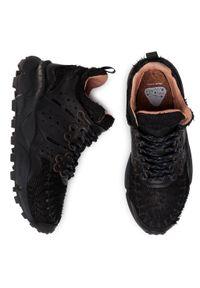 Czarne sneakersy Flower Mountain na co dzień, z cholewką