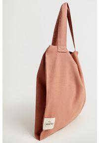 Różowa torebka mango duża, na ramię