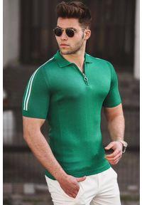 Zielony t-shirt IVET na co dzień, casualowy, polo