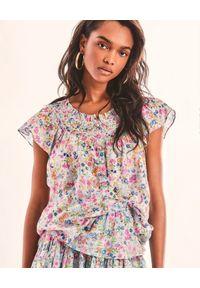 LOVE SHACK FANCY - Wzorzysta bluzka Shira. Kolor: biały. Materiał: bawełna, tkanina. Wzór: kwiaty