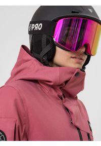 4f - Kurtka snowboardowa membrana 10 000 damska. Kolor: różowy. Materiał: materiał, poliester. Sezon: zima. Sport: snowboard