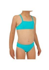 OLAIAN - Kostium Kąpielowy Dwuczęściowy Bali 100 Dla Dzieci. Kolor: turkusowy, niebieski, wielokolorowy. Materiał: elastan, poliester, materiał