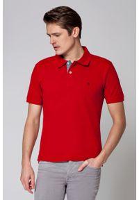 Czerwona koszulka polo Lancerto polo, klasyczna, krótka