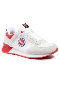 Colmar - Sneakersy COLMAR - Travis Boost 133 White/Red. Okazja: na co dzień, na spacer. Kolor: biały. Materiał: zamsz, materiał, skóra. Szerokość cholewki: normalna. Styl: casual, klasyczny, sportowy