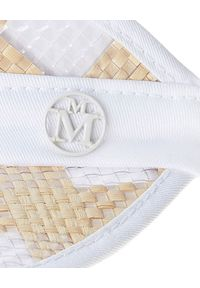 MAISON MICHEL PARIS - Daszek ozdobiony monogramem. Kolor: biały. Materiał: materiał. Wzór: aplikacja