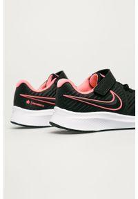 Czarne buty sportowe Nike Kids z cholewką, z okrągłym noskiem, na rzepy