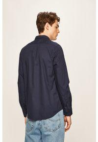 Lee - Koszula. Typ kołnierza: button down. Kolor: niebieski. Materiał: tkanina