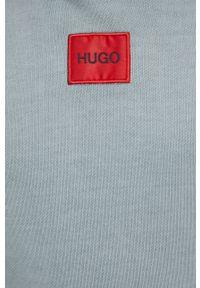 Hugo - Bluza bawełniana. Okazja: na co dzień. Kolor: zielony. Materiał: bawełna. Wzór: gładki. Styl: casual
