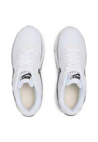 Białe buty sportowe Nike na płaskiej podeszwie, Nike Air Max, z cholewką