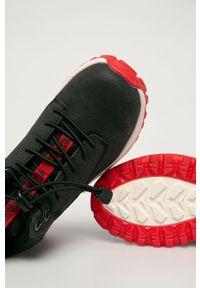 Szare buty zimowe Big-Star z okrągłym noskiem, z cholewką, na sznurówki, na zimę