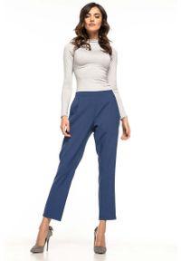 Niebieskie spodnie z wysokim stanem Tessita eleganckie