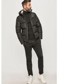 Czarna kurtka Tommy Jeans z kapturem, na co dzień, casualowa