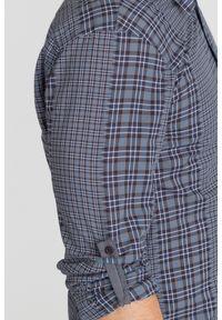 Szara koszula Guess na lato, na co dzień, biznesowa