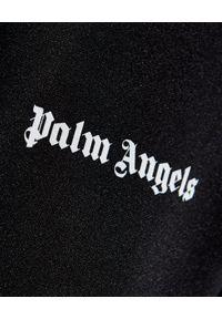 PALM ANGELS - Rozpinana bluza z lampasem. Kolor: czarny. Materiał: materiał. Długość rękawa: długi rękaw. Długość: długie. Wzór: aplikacja