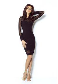 Czarna sukienka wizytowa IVON wizytowa