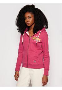 Superdry Bluza Vintage Logo Duo W2010925A Różowy Regular Fit. Kolor: różowy. Styl: vintage