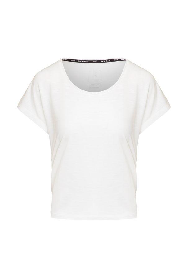 Biała koszulka termoaktywna On Running na jogę i pilates