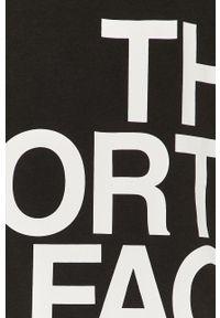 Czarna koszulka z długim rękawem The North Face casualowa, z nadrukiem, na co dzień