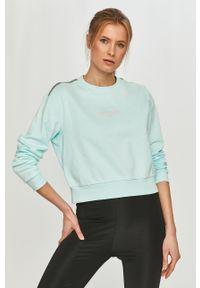 Niebieska bluza Calvin Klein Performance z długim rękawem, na co dzień, casualowa