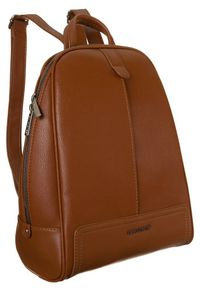DAVID JONES - Plecak damski koniakowy David Jones CM6014 COGNAC. Materiał: skóra ekologiczna. Styl: klasyczny
