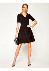 Czarna sukienka koktajlowa Trussardi Jeans wizytowa
