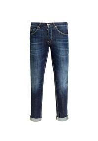 Niebieskie spodnie Dondup casualowe, na co dzień