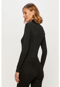 Czarna bluzka z długim rękawem Reebok Classic casualowa, z golfem, na co dzień