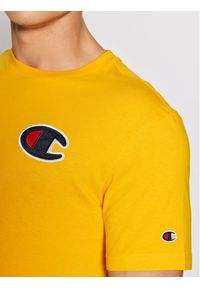 Champion T-Shirt Crewneck Żółty Comfort Fit. Kolor: żółty