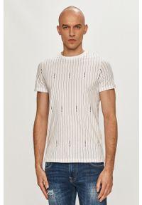 Karl Lagerfeld - T-shirt. Okazja: na co dzień. Kolor: biały. Materiał: dzianina. Styl: casual