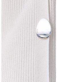 Hugo - Sweter. Okazja: na co dzień. Kolor: biały. Materiał: dzianina, bawełna. Długość rękawa: długi rękaw. Długość: krótkie. Styl: casual