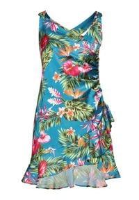 Guess Sukienka koktajlowa Larissa W1GK0W WCUN0 Niebieski Slim Fit. Kolor: niebieski. Styl: wizytowy