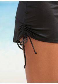 Szorty kąpielowe z figami wewnętrznymi bonprix czarny. Kolor: czarny. Długość: krótkie
